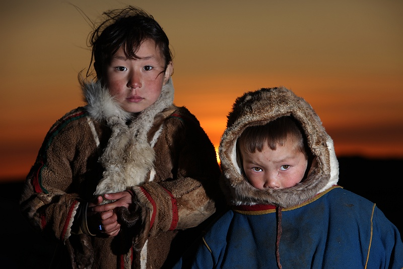 Nasta and Sergey have lived all their life in the Arctic and even if they are young they have experienced changes in the seasons. The biggest worry with the warming [tag permafrost permafrost] grounds is the approximately 1 000 billion tones of carbon in form of organic residues and gas that have remained locked and stored here for thousands of years.