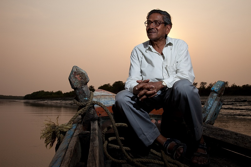 Professor Amalesh Choudhury has worked for over 45 years in the Sundarbans, starting a program in 1976 to restore the protective mangrove forests around Sagar Island. It has been no less than a lifetimes work, but at 86 he will not give up.