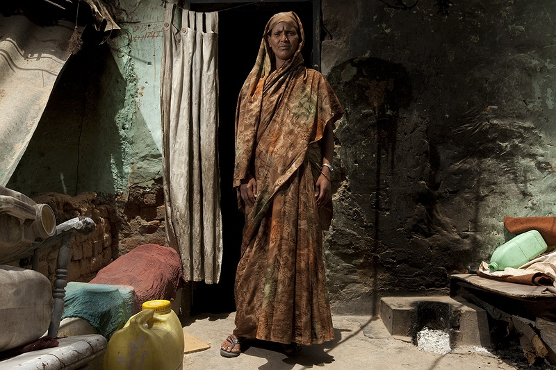 Sonia Devi lives with her husband and four children in a ten metre square room in the Dalit Ekta slum in Delhi. She doesn't have much, not even the luxury of her own toilet.